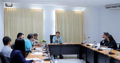 รักษาราชการแทนอธิการบดีมหาวิทยาลัยนครพนม ประชุมหารือแนวทางการบริหารงานภายในมหาวิทยาลัยนครพนม